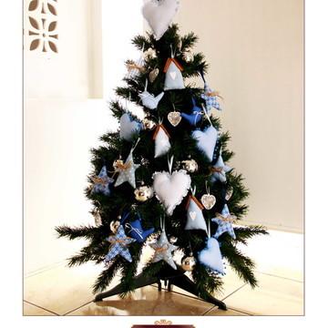 Kit enfeites de árvore de natal azul