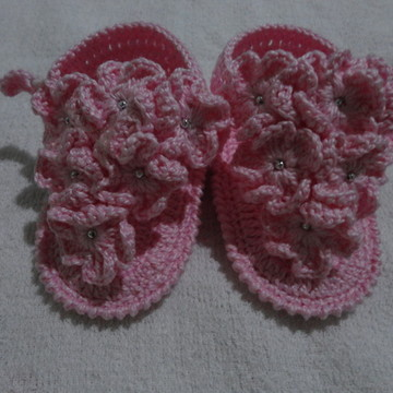 f0e85d78e0 Sandalinhas de Croche para Bebe Menina