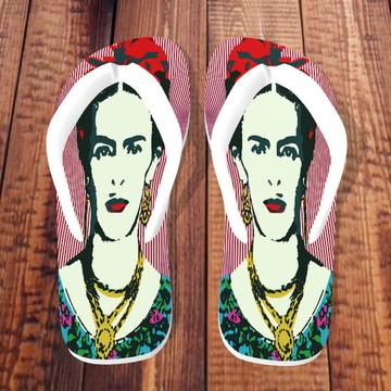 Chinelos Personalizados - Frida Kahlo