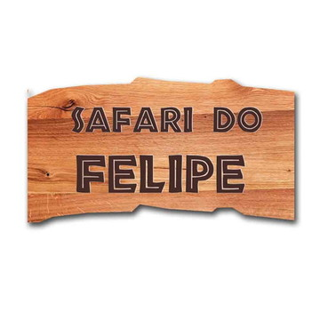 Festa safari - Placa