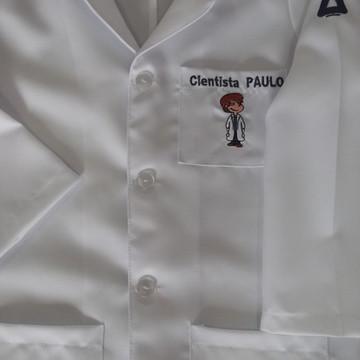 Jaleco infantil masculino de laboratório