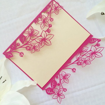 Arquivo silhouette para Convite Floral