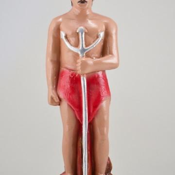 Escultura Exu Tranca rua em pé Imagem 100% em gesso