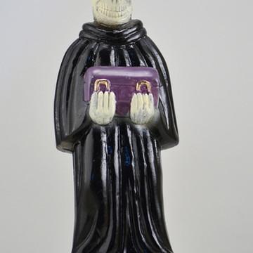 Escultura Exu Umulu imagem em gesso 100% natural