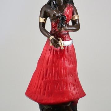 Escultura Ewa Orixá do Candomblé imagem 100% em gesso puro