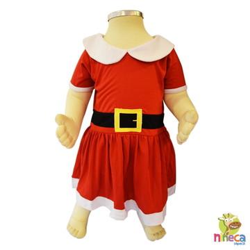 Vestidinho bebê Mamãe Noel c/gorrinho