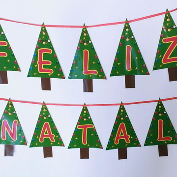 Bandeirolas Feliz Natal