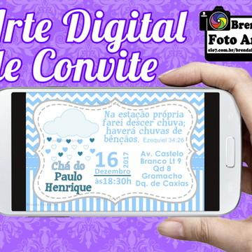 Arte Digital Convite Chuva de Amor
