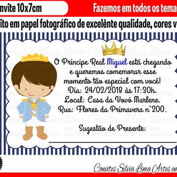 Convite Pequeno Príncipe Chá de bebê