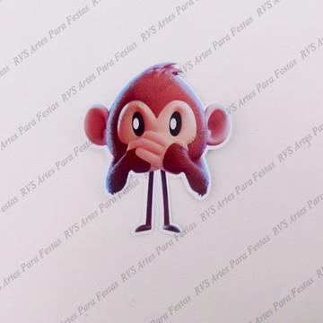 89100a3c6 Aplique com 4 cm -Macaco - Emoji - O filme