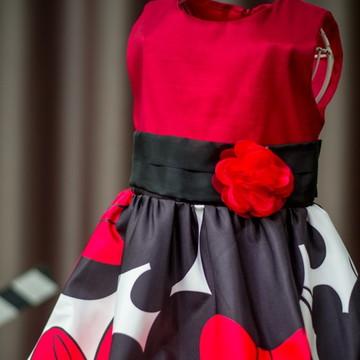 Vestido da Minnie Vermelha Baby