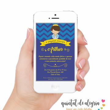 Convite Digital Pequeno Príncipe 001