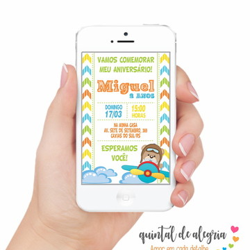 Convite Digital Ursinho 004