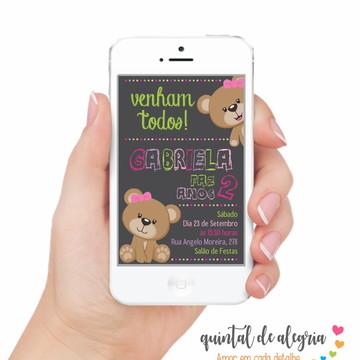 Convite Digital Ursinho 003