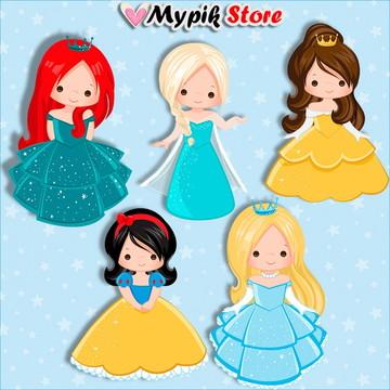 Kit Digital Princesas Cute Scrapbook 04