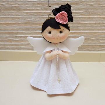 Boneca anjinho para batizado