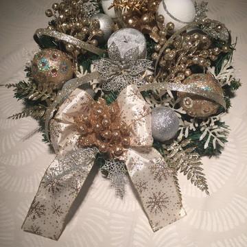 Arranjo mesa de natal