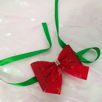 Gargantilha Laço de pescoço Natal Pet - Eva unidade