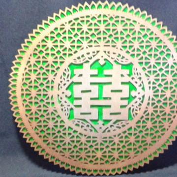Mandala recortada com motivos Chineses