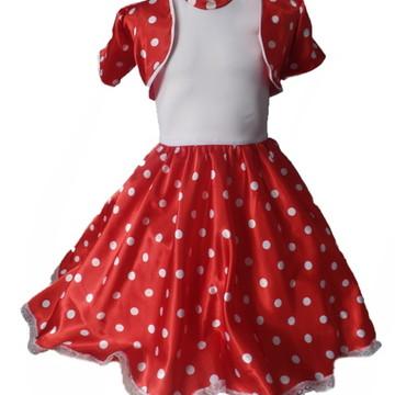 a1f2b73b7f Vestido Anos 60 Infantil Sandrinha Vermelho