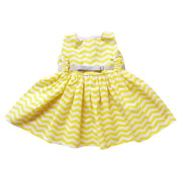 Vestido infantil chevron amarelo