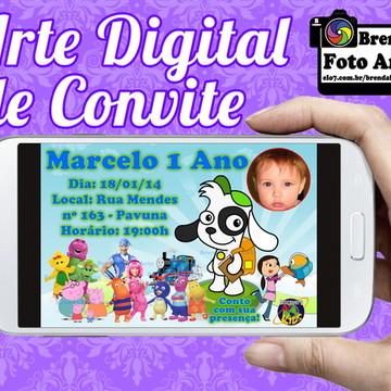 Arte Digital Convite Discovery Kids