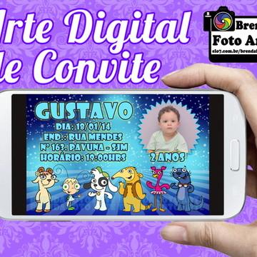 Arte Digital Convite Doki Discovery Kids
