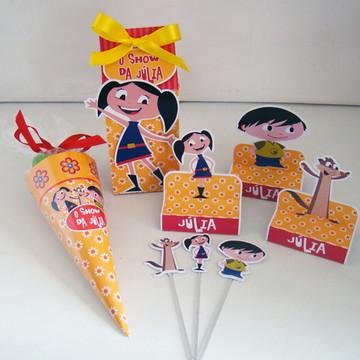 """Mini Kit Festa """"Show da Luna"""" 60 produtos vazios"""