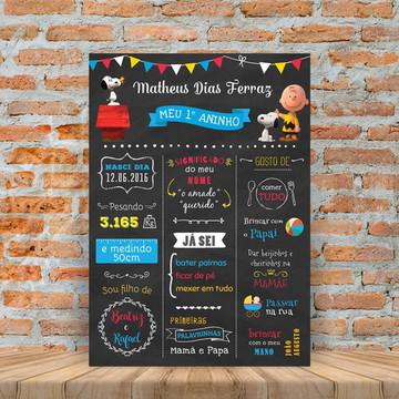 Chalkboard Digital Primeiro Aninho Snoopy