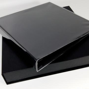 Album pino 30x30 com caixa-Preto
