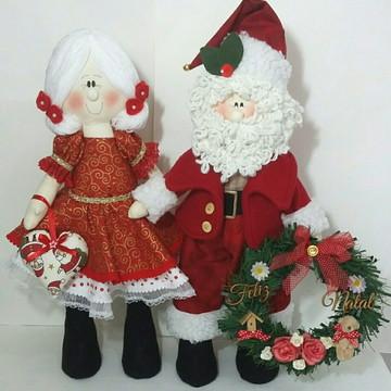 Papai Noel e Mamãe Noel para decoração