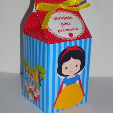 Caixa MIlk Personalizada Branca de Neve cute