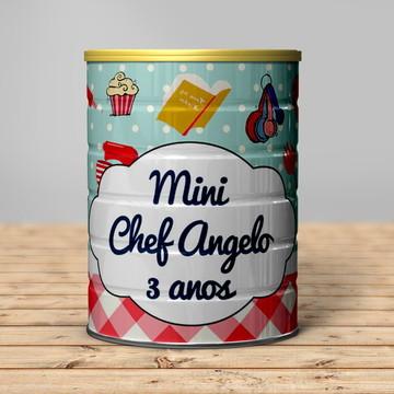 Rótulo para Lata de Leite Mini Chef