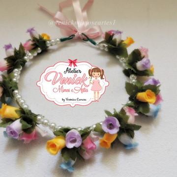 coroa de flores com pérolas
