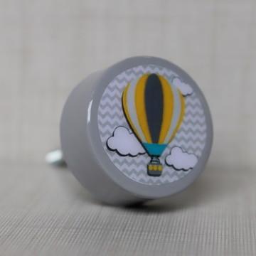 Puxador,puxadores infantil Estilo porcelana balão cinza