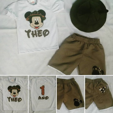 Conjunto Mickey Safari