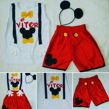 Conjunto Mickey 03 Peças