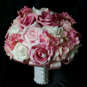 Buque - tons de rosa com branco