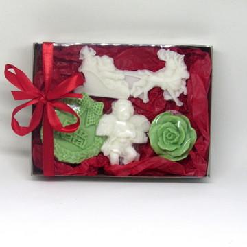 Caixa com sabonete natal