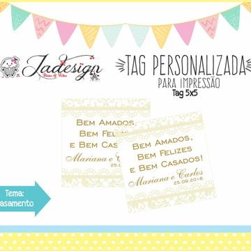 Arte Tag Personalizada - Casamento