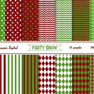 kit Papeis Digital - Natal