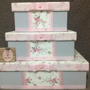 Trio de Caixas decorativas quarto bebê