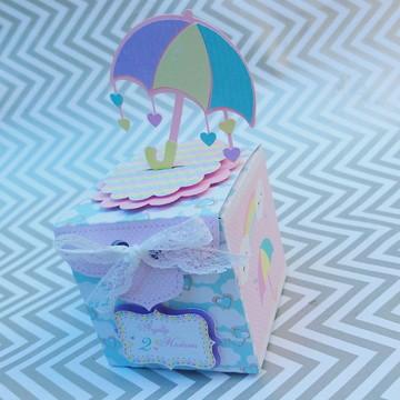 Caixa cubo chuva de amor
