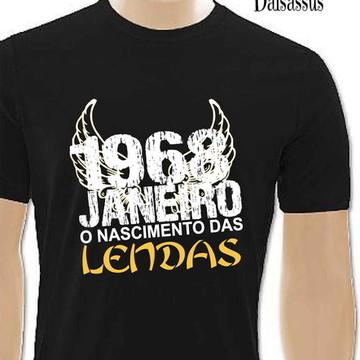 4d4df7981 Camiseta Mês e data de nascimento 1968