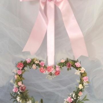 Guirlanda coração de rosas