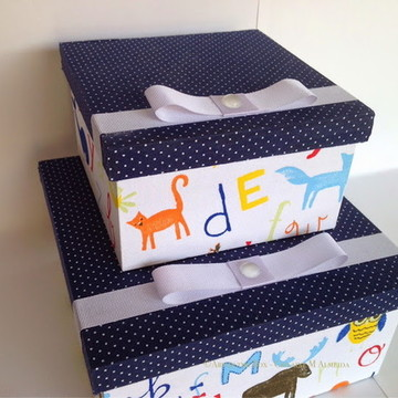 Conjunto de caixas decorativas para menino