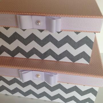 Conjunto de caixas decorativas para meninas