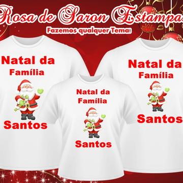 Kit 3 camisetas Natalinas Familia Santos