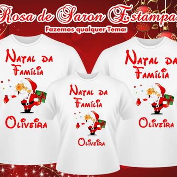 Kit 3 camisetas Natalinas Familia Oliveira