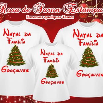 Kit 3 camisetas Natalinas Familia Gonçalves